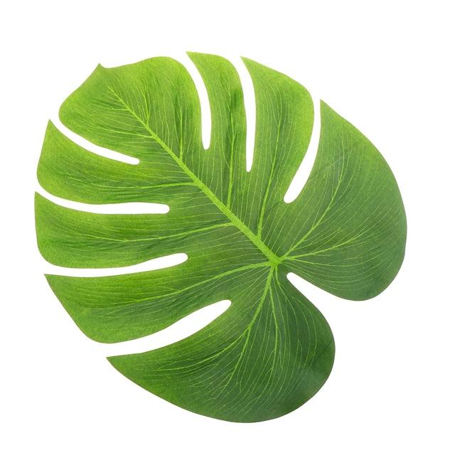 12pcs Artificial Tropical Palm Leaves Simulation Leaf For