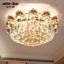 New Modern Gold LED Round Ceiling Lights 45cm With K9 Crystals For Dining room And Bedroom Lighting (ADB1161-45)