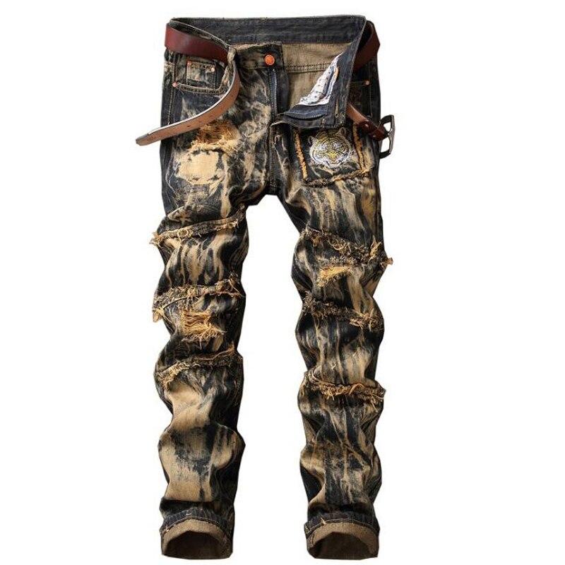 גברים באיכות גבוהה ג 'ינס המותג החדש ג' - בגדי גברים