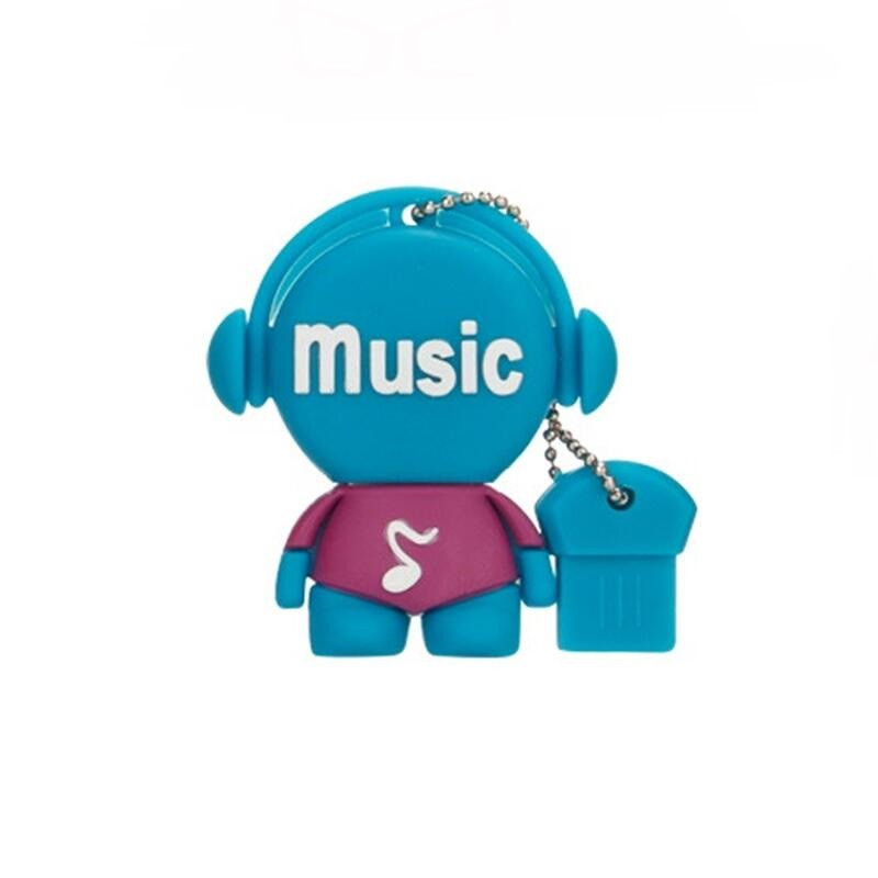 cartoon music model USB flash drive usb 2.0 4GB 8GB 16GB pen 32GB 64GB Pendrive 128gb memory stick toy u disk wedding gift