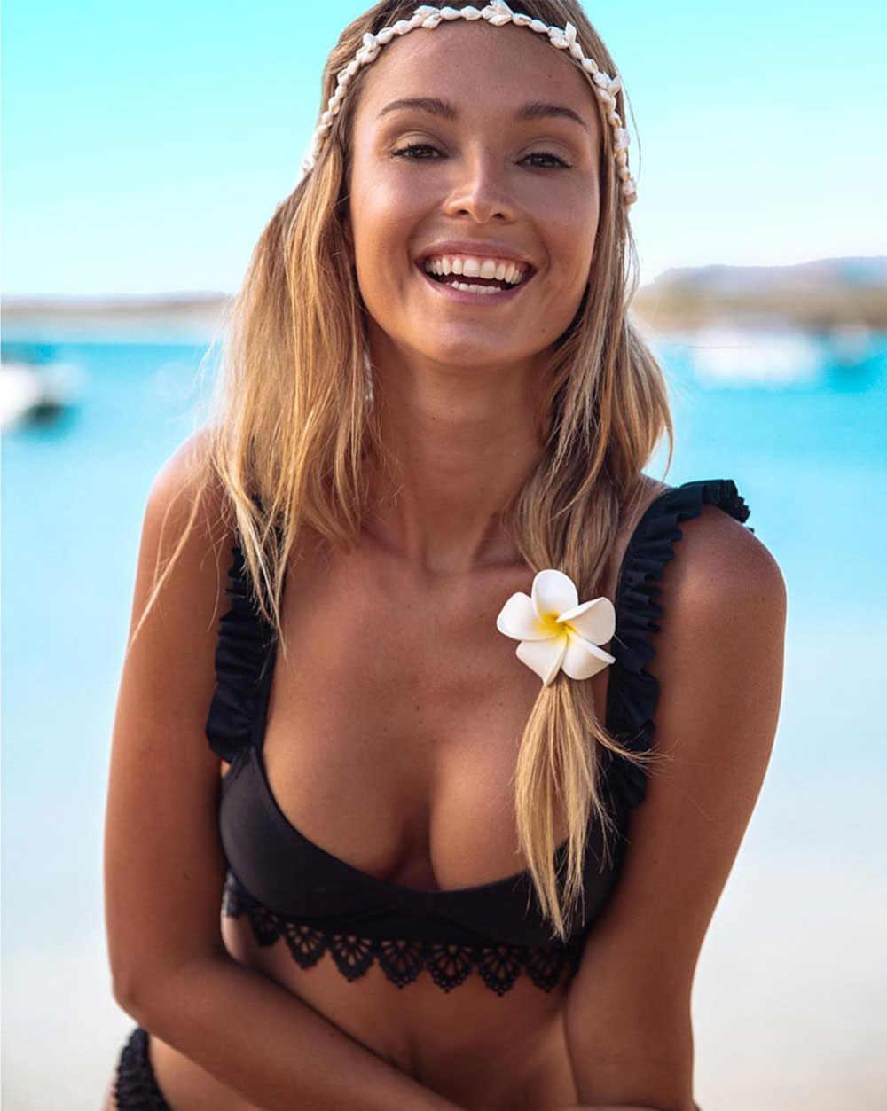 Hot 2019 brazylijski Sexy potargane bikini kobiety stroje kąpielowe push up strój kąpielowy kobiecy zestaw bikini strój kąpielowy Biquini