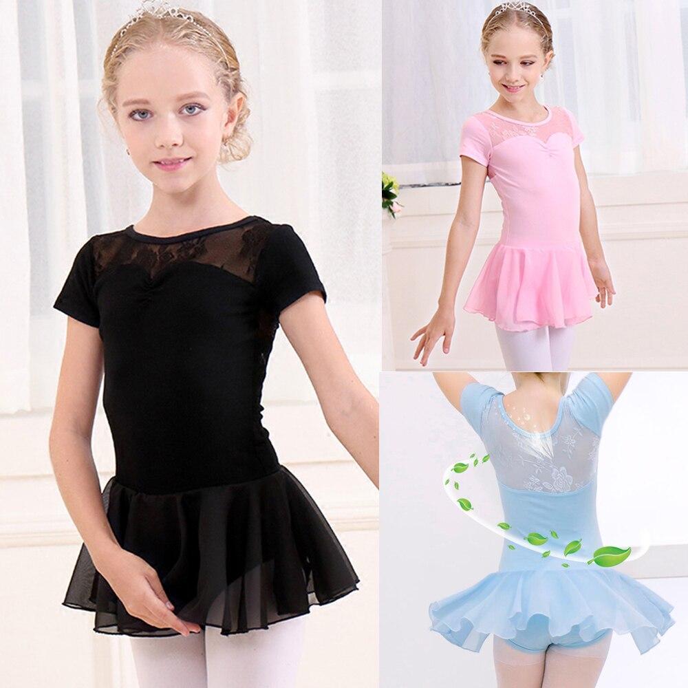 Show details for Ballet Leotard For Girls New Arrival Vintage Sweet Lace Ballet Dress Children High Quality Short Sleeve Ballet Dancing Skirt