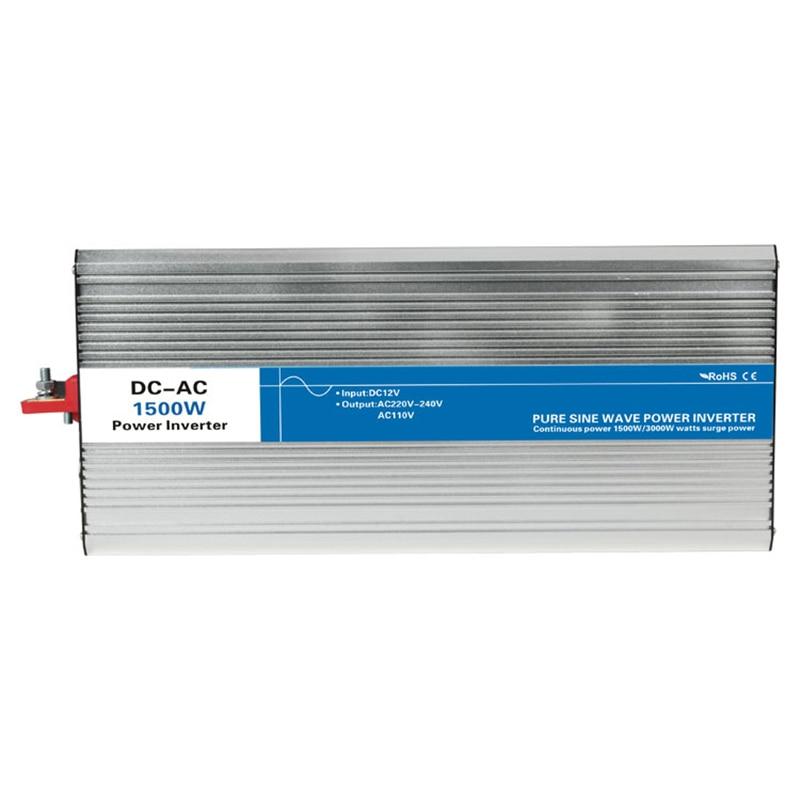 цена на Power 1500W DC Input 12V 24V 48V AC Output 110V 220V Pure Sine Wave Off Grid Tie Inverter Custom Solar LED Display Watt Volt