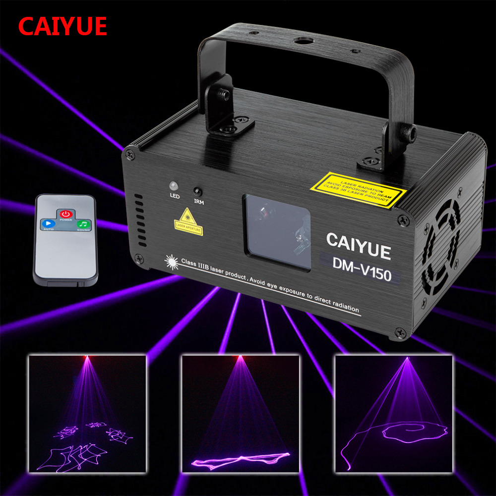 Remote DMX 512 Violet Laser Stage Lighting Scanner DJ Projector Party Show Light Effect Projector Illumination Fantastic Disco