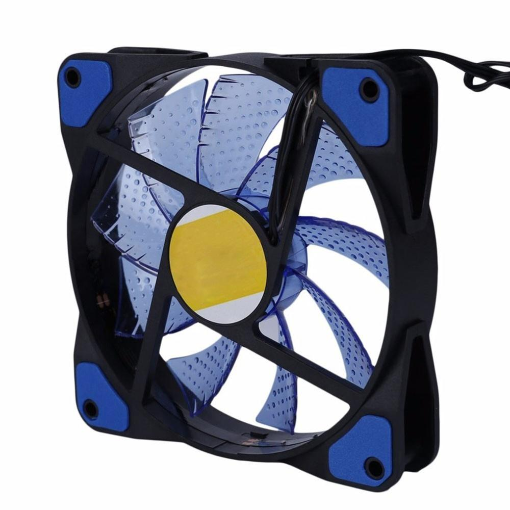 <font><b>120mm</b></font> 15 LED Ultra <font><b>Silent</b></font> Computer PC Case Cooling <font><b>Fan</b></font> 15 LEDs <font><b>12V</b></font> With Rubber <font><b>Quiet</b></font> Molex Connector 3 / 4Pin plug <font><b>fans</b></font> Cooler image
