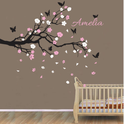 Custom Personalised Name Birds Erfly Branch Wall Sticker Decal Nursery Decor Wallpaper In Stickers From Home Garden On Aliexpress Alibaba