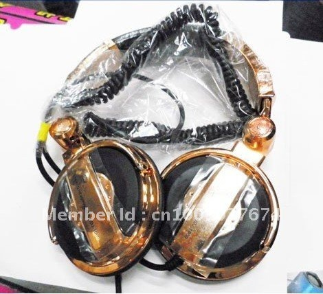 Free Shipping Hot sell DJ-1000 Headphones Gold color  Headsets in retail package  Z#007