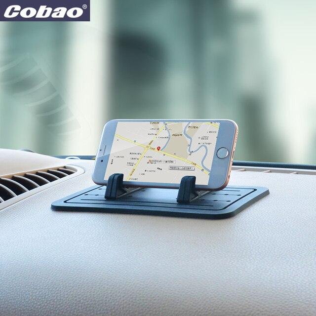 Cobao Soft Silicone Mobile Phone Holder Car Dashboard GPS Anti Slip Mat Desktop Stand Bracket for iPhone 5s 6 Samsung Tablet GPS