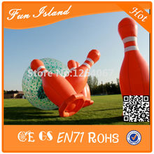 Free Shipping Huge Inflatable Bowling Set, Inflatable Sports Game, Giant Inflatable Bowling Pins For Sale(China)