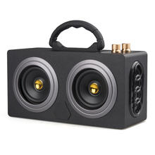 Wireless Portable Wooden Bluetooth Speaker 20W Dual Stereo Dancing Super Bass Subwooofer Outdoor with FM Radio M8 Support SD/TF