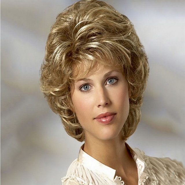 Cheap Heat Resistant Synthetic African American Blonde Wig For