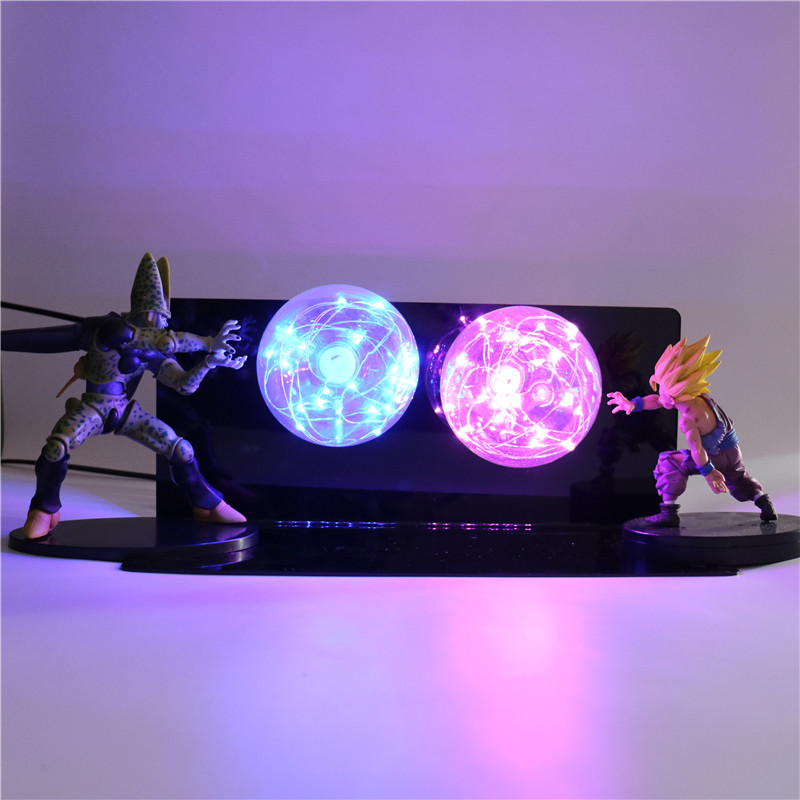 Dragon Ball Z Goku Action Figures Lamp Baby Dolls LED Night Light DIY Anime Model Table