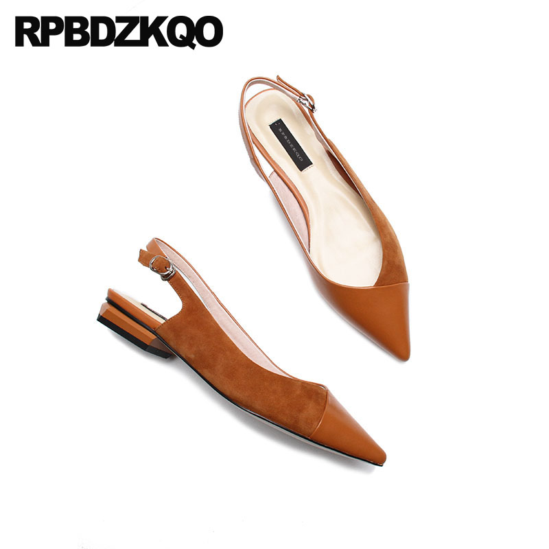 4841d72b62d5 Slip On Party Flats Sandals Office Women Dress Shoes Work China Brown Nude  Ladies Chinese Black Slingback Suede Pointed Toe 2018