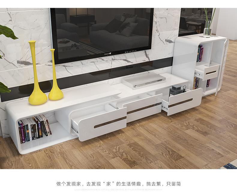 US $439.2 10% OFF|minimalist designer wooden panel TV Stand modern Living  Room Home Furniture tv led monitor stand mueble tv cabinet mesa tv table-in  ...