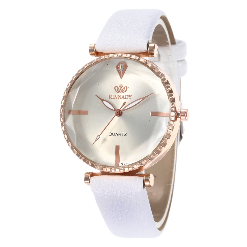 Polygonal Simple Dial Designer Women Dress Watches Luxury Fashion Quartz Female Watch Brand Pu Leather White Ladies Wristwatch