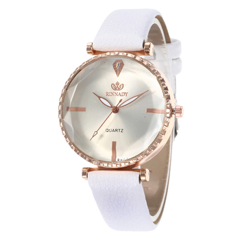 Polygonal Simple Dial Designer Women Dress Watches Luxury Fashion Quartz Female Watch White Ladies Wristwatch Brand Pu Leather