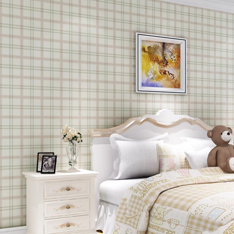 beibehang scottish tartan beige vintage wallpaper american country