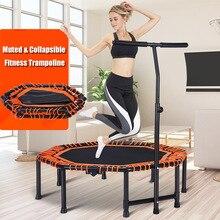48 Polegada quádruplo dobrável indoor gym fitness trampolim octogonal para adultos crianças segurança saltar esportes com corrimão ajustável