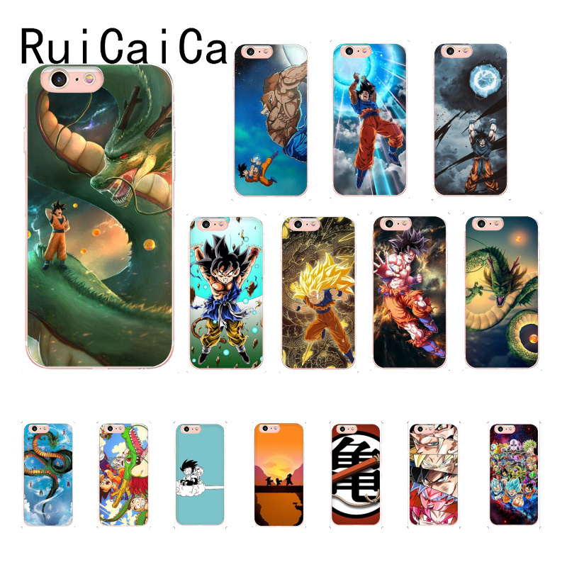 RuiCaiCa Japanese Cartoons Dragon Ball z Super Goku <font><b>PhoneCase</b></font> for iPhoneX XSMAX 6 6S 7 <font><b>7plus</b></font> 8 8Plus 5S XR 10 11 11pro 11promax image