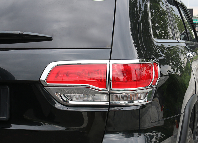 2015 Jeep Grand Cherokee Accessories >> Car Styling 4PCS ABS Chromed Rear Tail Light Lamp Cover Trim For Jeep Grand Cherokee 2014 2015 ...