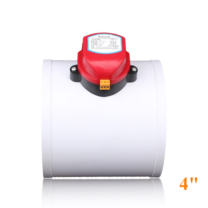4 inch Plastic air damper valve HVAC electric air duct motorized damper for ventilation pipe valve 220V 12V 24V 110mm4 inch Plastic air damper valve HVAC electric air duct motorized damper for ventilation pipe valve 220V 12V 24V 110mm