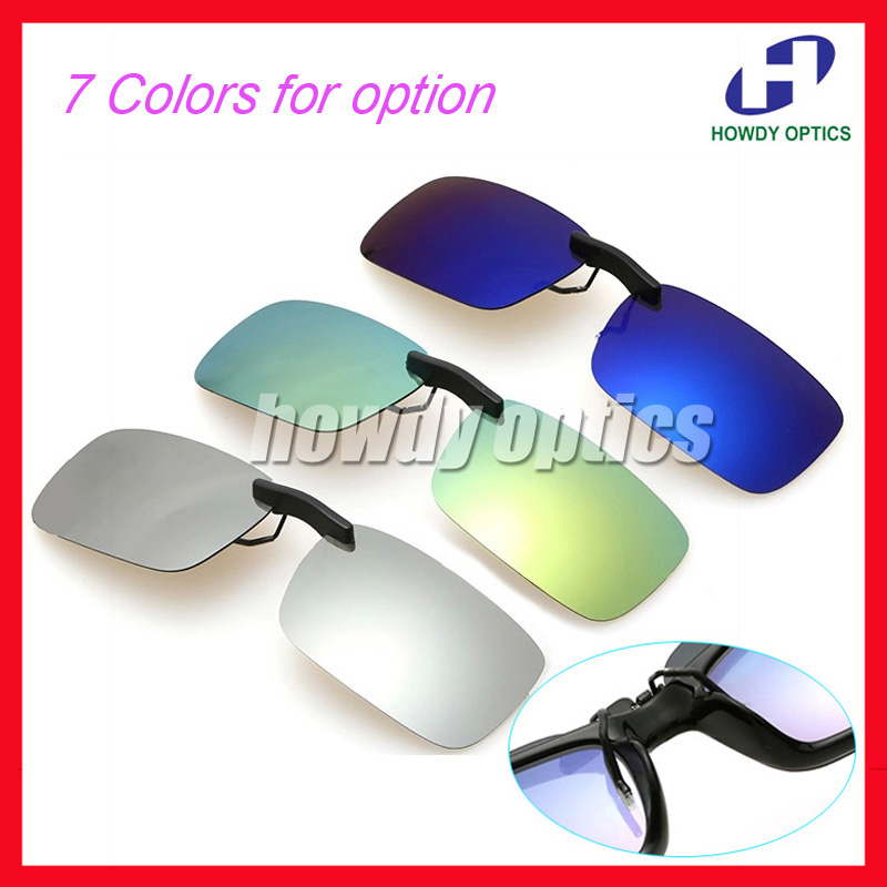 20pcs Free Shipping Wholesale Driving Glasses Eyeglasses Sunglasses Polarized Clip On With Long Clip