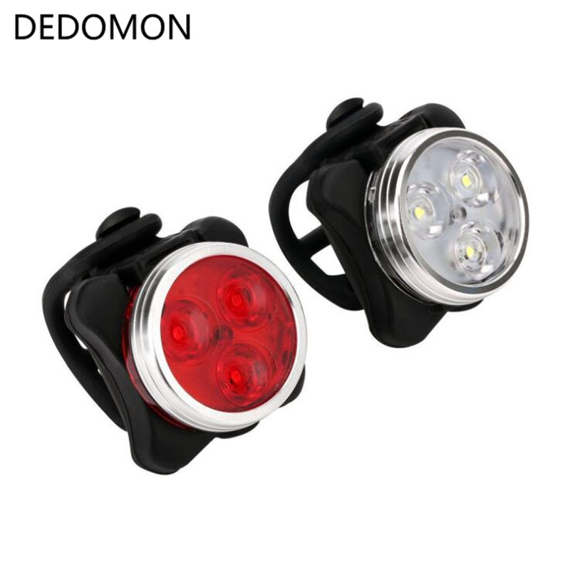 4 Modes Bicycle Light  Built-in Battery Rechargeable USB LED Bike Light Flashlight With Mount Bicycle Accessories
