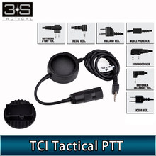 Z-TAC TCI PTT Tactical Headset Push To Talk Plug Hole Headphone For Kenwod Switch PTT(China)