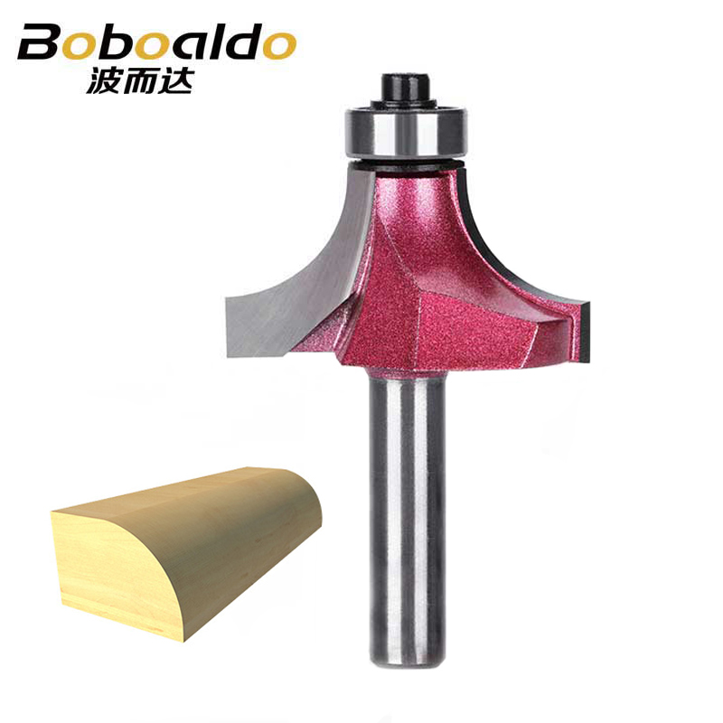 1PCS 8mm Shank Round Over Router Bits For Wood Woodworking Tool Endmill Bearing Milling Cutter Corner Round-Over Bit