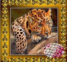 Diy diamant malerei tier kreuzstich kristall runden diamanten sets unbe dekorative diamant stickerei tiger 35×35 cm