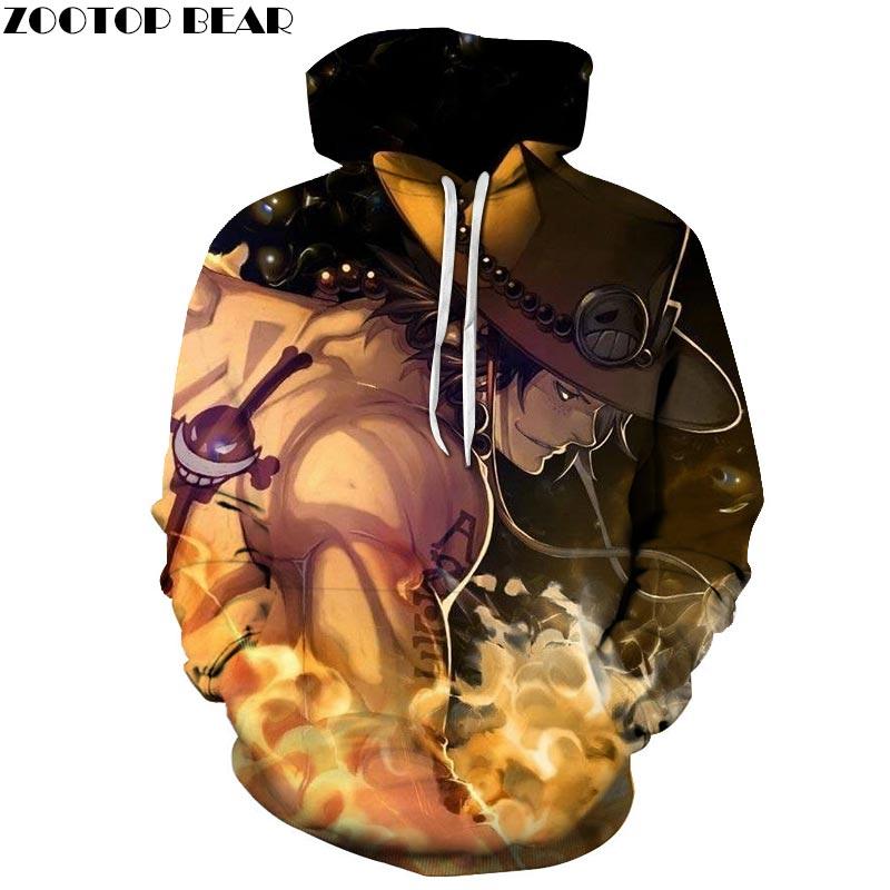 One Piece King 3D Print Brand Casual Hoody Sweatshirts Men Tracksuit Hoodie Outdoor Pullover Streetwear DropShip ZOOTOPBEAR New