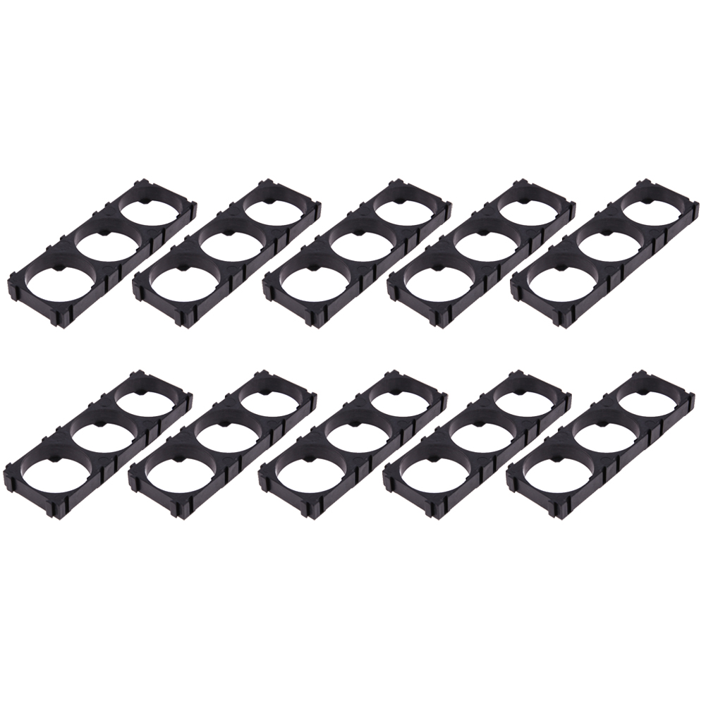 10pcs/lot 3 Slot <font><b>32650</b></font> <font><b>Battery</b></font> Storage <font><b>Holder</b></font> <font><b>Bracket</b></font> <font><b>Battery</b></font> Elevator Carrier Cell <font><b>Holder</b></font> Stock Base Plastic Black Combination image