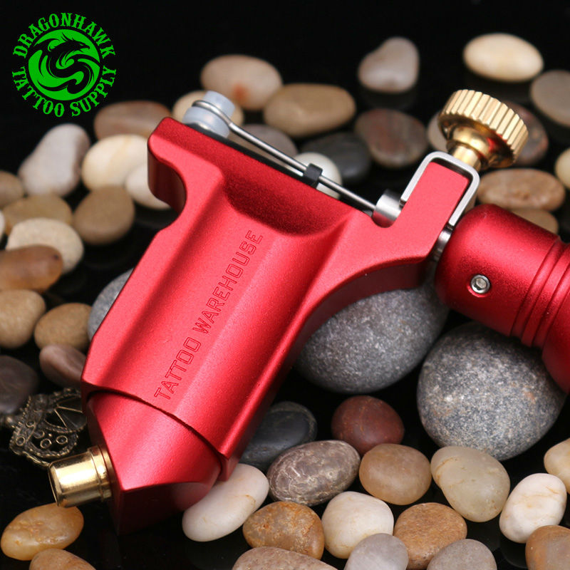 New Rotary Tattoo Machine Red Color Tattoo Gun Shader&Liner Tattoo Supply DHL&EMS Free Shipping 4 pcs liner shader tattoo rotary motor gun machine kit set swashdrive