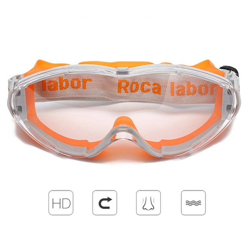 Safety Goggles Fashion Orange Sporty Riding Windproof Transparent Eyewear Anti-chemical Splash Work Protective Eyeglasses