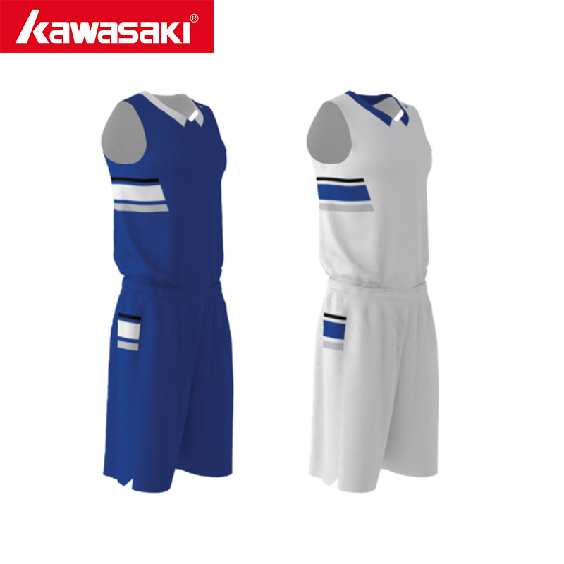 Kawasaki Bule/White Reversible Custom Basketball Uniforms Indoor Quick Dry Sports Jersey Shorts Sportswear Team Wear new 2017 men s basketball sportswear suit sets jacket and shorts personality print custom logo training wear