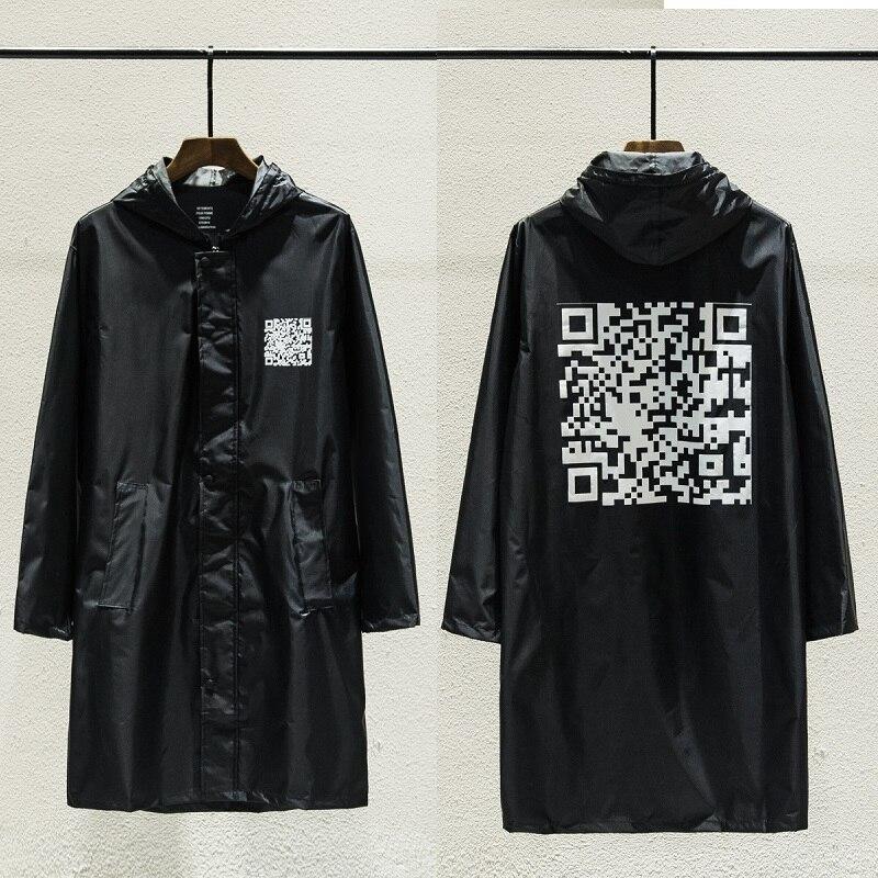 Vetements Jackets Men Women Qr Code Oversized Raincoat Clothes Streetwear Coats Waterproof Windbreaker Bomber Vetements Jacket