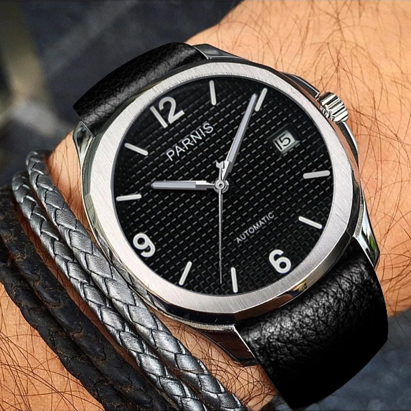 Parnis Minimalist Watch Mechanical-Watches Miyota Sapphire Crystal Men Relogio Masculino title=