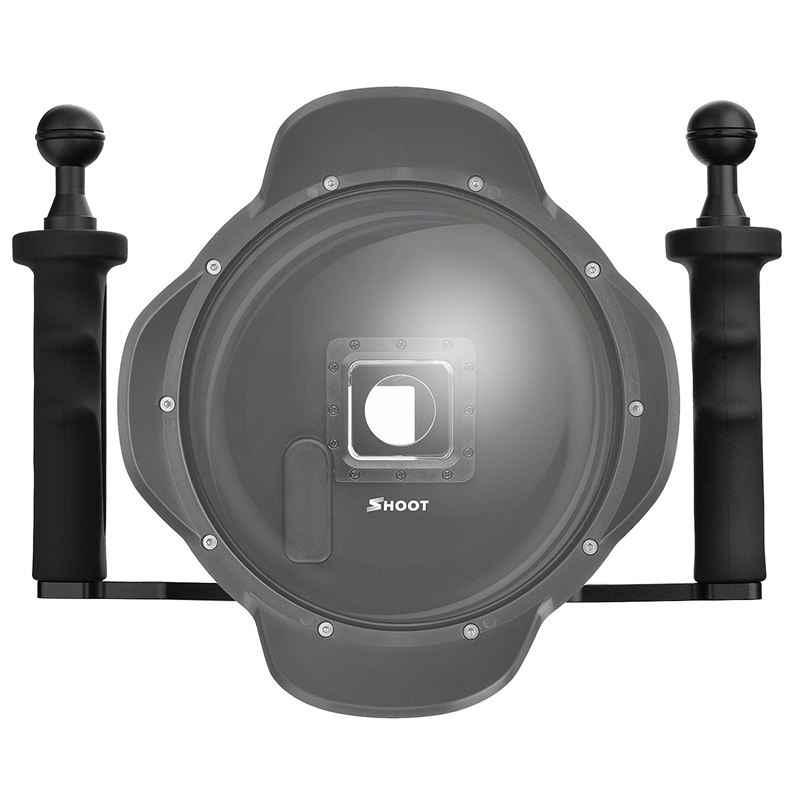 לירות אלומיניום סגסוגת 7x10 inchi (גובה X רוחב) כף יד מייצב ידית אחיזת עבור GoPro 5/4/3 +/3 מצלמות 4 אינץ 6 אינץ כיפת Por