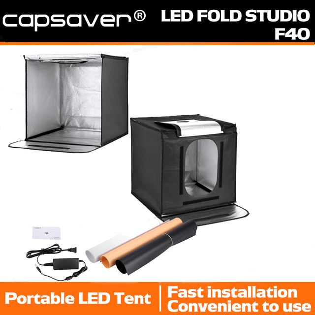 capsaver F40 40*40cm LED Light Box Portable Folding Lightbox Photography Studio Light Tent Backgrounds  sc 1 st  AliExpress.com & capsaver F40 40*40cm LED Light Box Portable Folding Lightbox ...