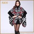 Nuevo Diseño de Las Mujeres Poncho Prorsum Cálido en Invierno Poliéster Mantón de La Bufanda de Las Mujeres bufanda de Acrílico manta