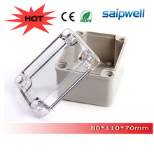 Free Shipping ABS indoor/out door Light Insulation Corrosion proof Clear Cover Waterproof Electrical  Junction Box