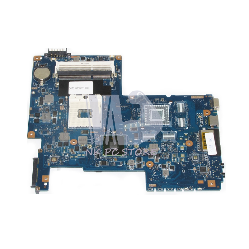 H000031370 Motherboard For Toshiba Satellite C670 Notebook PC Main Board System Board 08N1-0NC0J00 HM55 DDR3 574680 001 1gb system board fit hp pavilion dv7 3089nr dv7 3000 series notebook pc motherboard 100% working