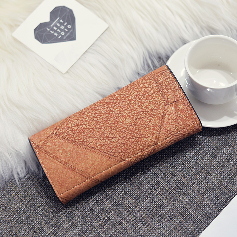 Trifold Leather Clutch Purse 3