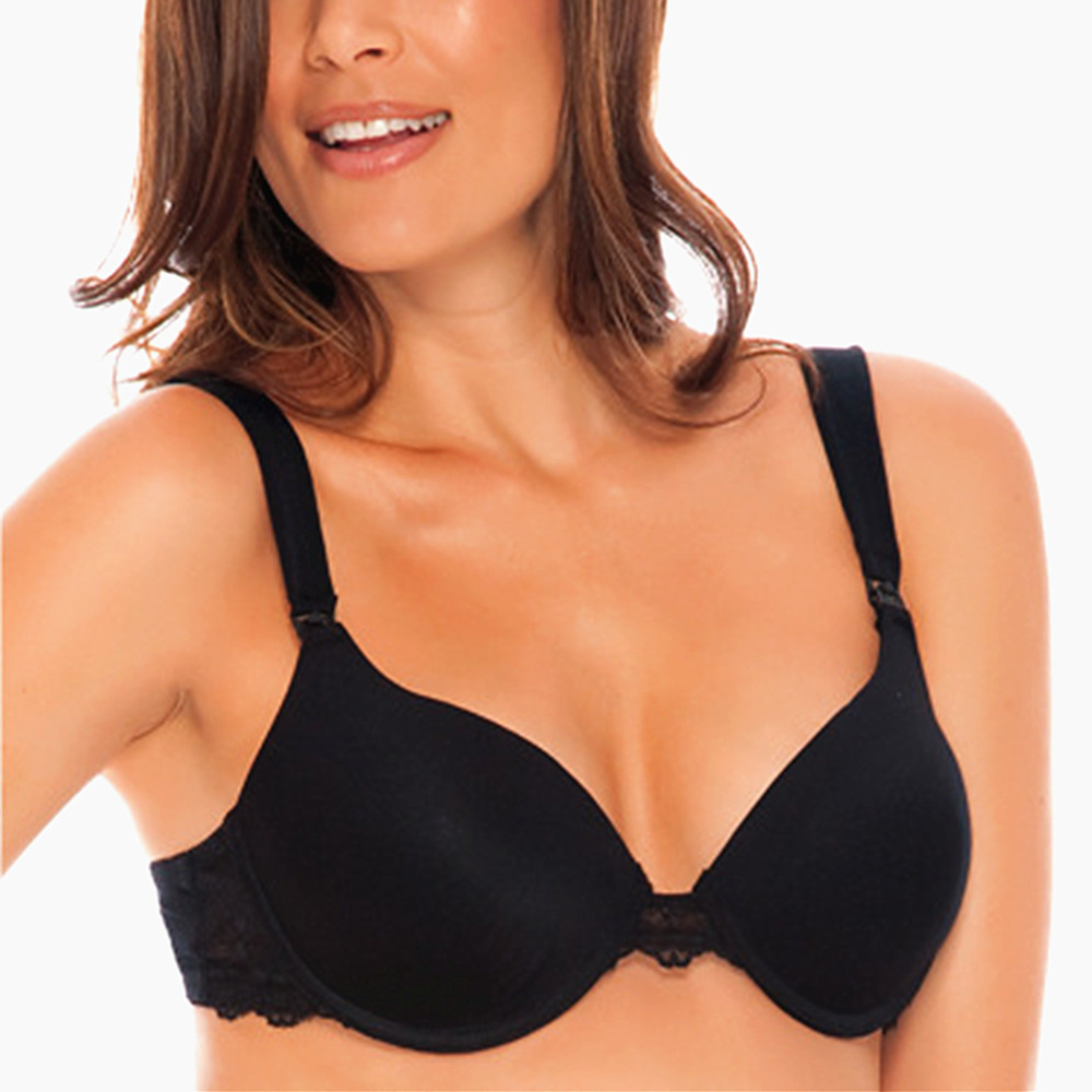 Women's Sexy Smooth Seamless Essential Padded Sleep Bras Soutien-gorge Underwire Full Coverage T-shirt Bra H400