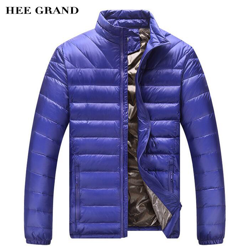 HEE GRAND Autumn Winter Men Casual Down Coat 2018 New Arrival Multi-Colors Regular Length Male Warm Coat Plus Size L-4XL MWY252