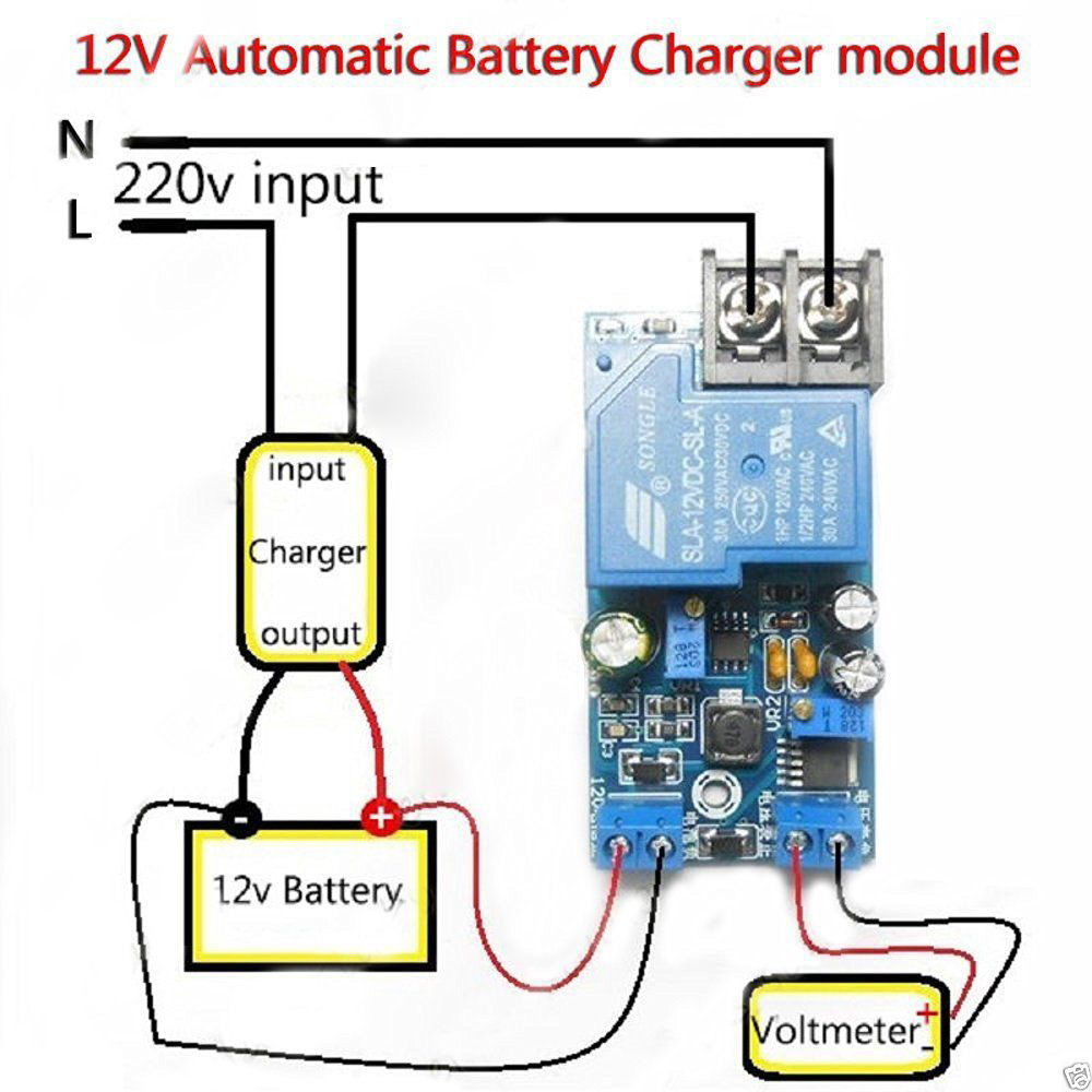 12v 30a Automatic Battery Charging Power Supply Control Protection 6v With Relay Diagram And Circuit Board In Integrated Circuits From Electronic Components Supplies On