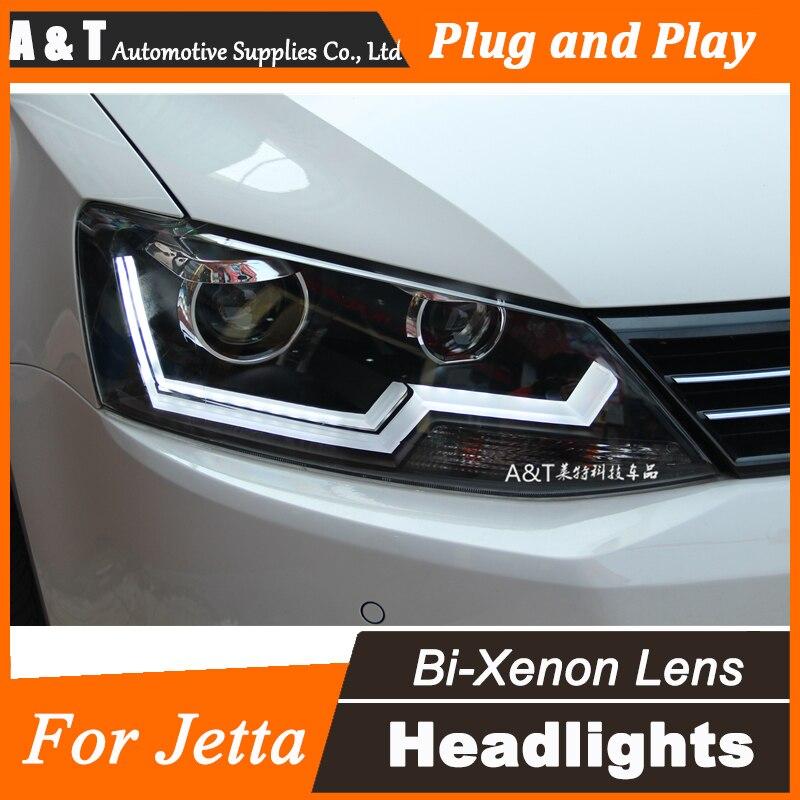 Car Styling for Volks Wagen Headlights Jetta MK6 LED Headlight drl Lens Double Beam H7 HID Xenon bi xenon lens car styling vw jetta headlights 2011 2014 jetta mk6 led headlight volks wagen new jetta drl h7 hid q5 bi xenon lens low beam
