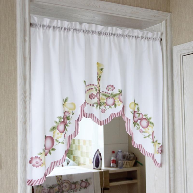 Nuevo café cortos cocina frutas diseño encaje bordado cortina de ...