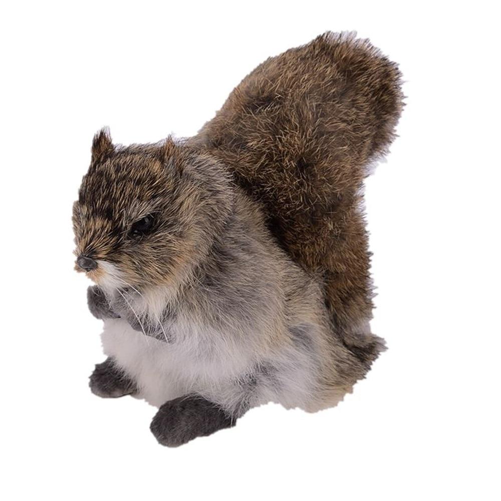 Squirrel Toy Doll Plush-Toy Rabbit-Fur-Toy Simulation Animal Birthday-Gift Stuffed Soft