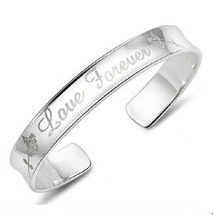 2016 New Arrival Hot Sell Romantic Love Forever 925 Sterling Silver Adjustable Bangles Birthday Gift by V Best
